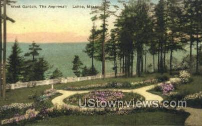 West Garden, The Aspinwall - Lenox, Massachusetts MA Postcard