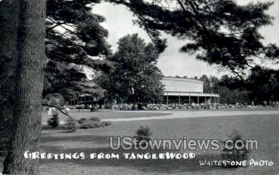 Real photo Tanglewood - Lenox, Massachusetts MA Postcard