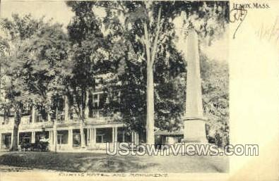 Monument & Curtis Hotel - Lenox, Massachusetts MA Postcard