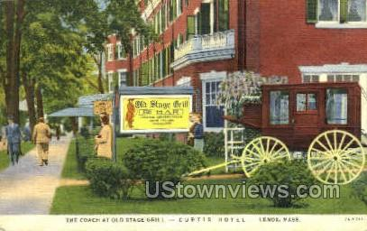 Curtis Hotel - Lenox, Massachusetts MA Postcard