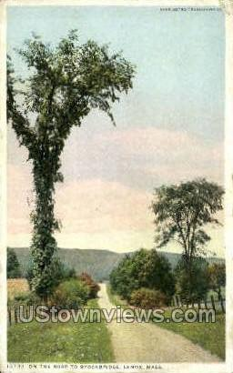 Road to Stockbridge - Lenox, Massachusetts MA Postcard