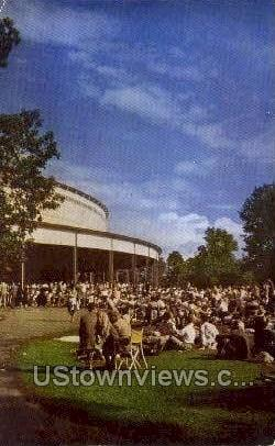 Music Shed, Tanglewood - Lenox, Massachusetts MA Postcard