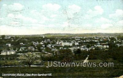 View from Gardner Hill - Leominster, Massachusetts MA Postcard