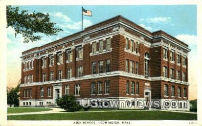 High School - Leominster, Massachusetts MA Postcard