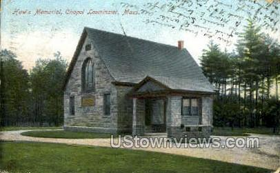 Haw's Memorial, Chapel - Leominster, Massachusetts MA Postcard