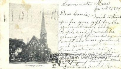 Methodist Church - Leominster, Massachusetts MA Postcard