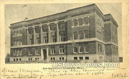 New High School - Leominster, Massachusetts MA Postcard