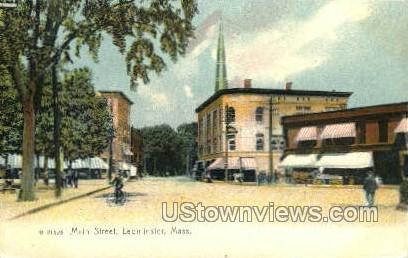 Main St. - Leominster, Massachusetts MA Postcard