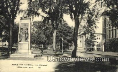 World War Memorial - Leominster, Massachusetts MA Postcard