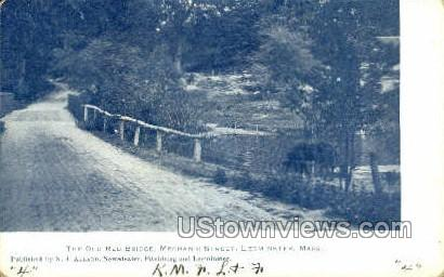 The Old Red Bridge - Leominster, Massachusetts MA Postcard