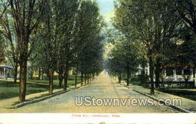 Grove Ave. - Leominster, Massachusetts MA Postcard