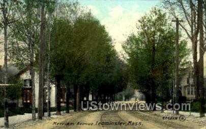 Merriam Ave. - Leominster, Massachusetts MA Postcard