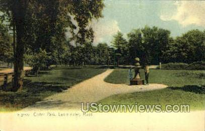 Carter Park - Leominster, Massachusetts MA Postcard