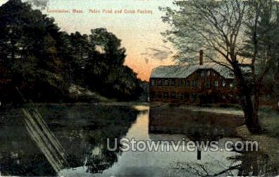 Paton Pond & Comb Factory  - Leominster, Massachusetts MA Postcard