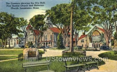First Baptist Church - Leominster, Massachusetts MA Postcard