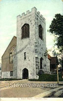 St. Mark's Church - Leominster, Massachusetts MA Postcard