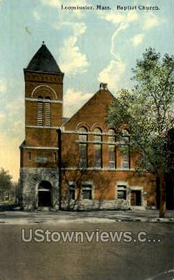 Baptist Church - Leominster, Massachusetts MA Postcard