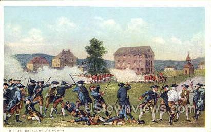 Battle of Lexington - Massachusetts MA Postcard