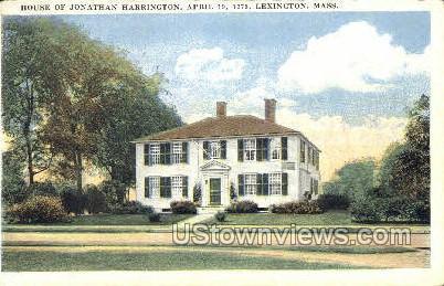 House of Jonathan Harrington - Lexington, Massachusetts MA Postcard