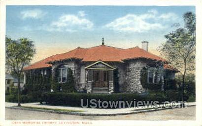 Cary Memorial Library - Lexington, Massachusetts MA Postcard