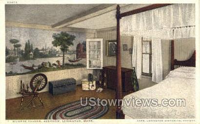 Bedroom, Munroe Tavern - Lexington, Massachusetts MA Postcard