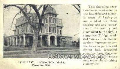 The Rest - Lexington, Massachusetts MA Postcard
