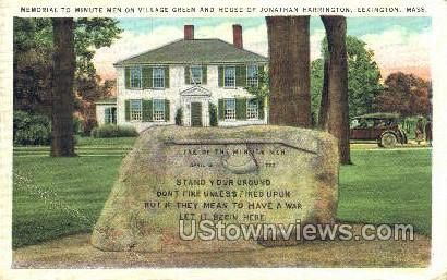Village Green - Lexington, Massachusetts MA Postcard