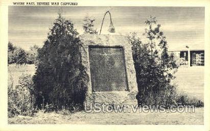 Where Paul Revere was Captured - Lexington, Massachusetts MA Postcard