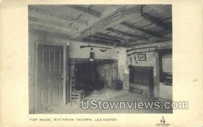 Tap Room, Buckman Tavern - Lexington, Massachusetts MA Postcard
