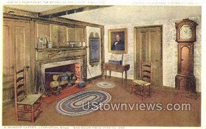 Bar Room, Munroe Tavern - Lexington, Massachusetts MA Postcard