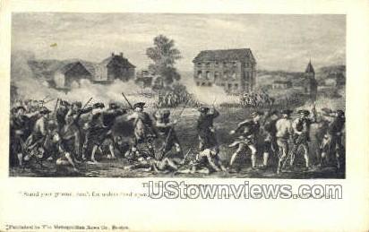 The Battle of Lexington - Massachusetts MA Postcard