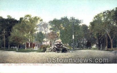 Lexington Square - Massachusetts MA Postcard