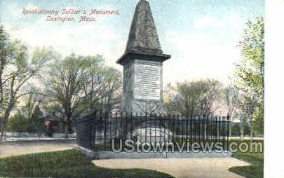 Revolutionary Soldier's monument - Lexington, Massachusetts MA Postcard
