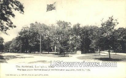 The Battlefield - Lexington, Massachusetts MA Postcard