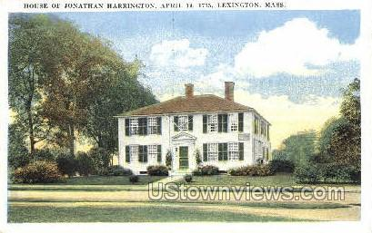 House of Jonathan Harrington - Lexington, Massachusetts MA Postcard