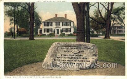 Line of the Minute Men - Lexington, Massachusetts MA Postcard