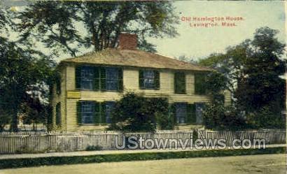 Old Harrington House - Lexington, Massachusetts MA Postcard