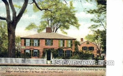The Old Harrington House - Lexington, Massachusetts MA Postcard