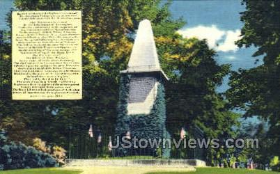 The Patriots' Monument - Lexington, Massachusetts MA Postcard