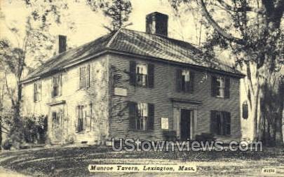 Munroe Tavern - Lexington, Massachusetts MA Postcard