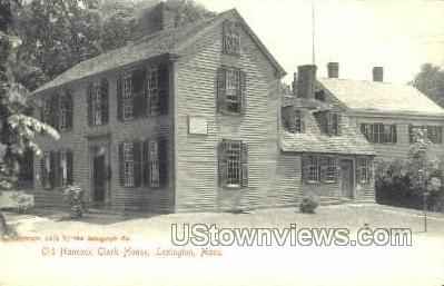 Old Hancock Clark House - Lexington, Massachusetts MA Postcard