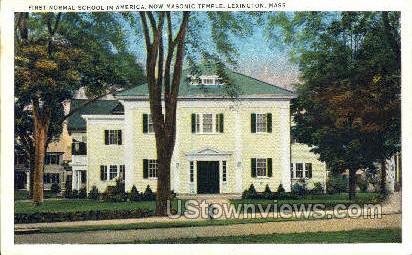 First Normal School in America - Lexington, Massachusetts MA Postcard