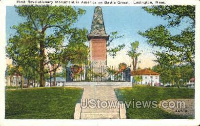 First Revolutionary Monument - Lexington, Massachusetts MA Postcard