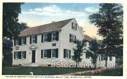 House - Marrett & Nathan Munroe - Lexington, Massachusetts MA Postcard