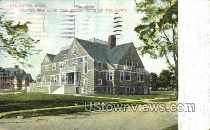 The Social Club of the Town - Lexington, Massachusetts MA Postcard