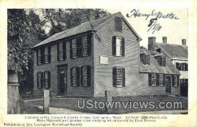 Hancock Clark House - Lexington, Massachusetts MA Postcard
