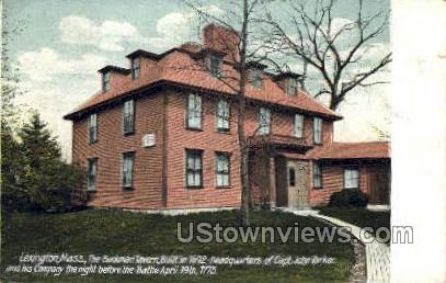The Buckman Tavern - Lexington, Massachusetts MA Postcard