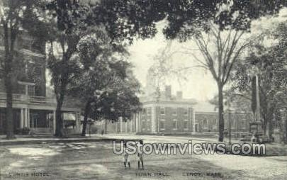 Town Hall - Lexington, Massachusetts MA Postcard