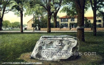 Line of the Minute Men - Lexington, Massachusetts MA Postcard