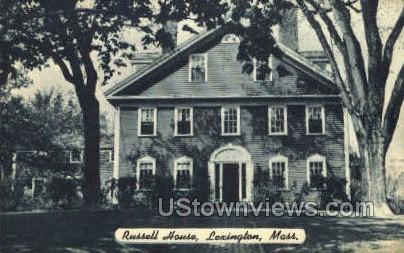 Russell House - Lexington, Massachusetts MA Postcard